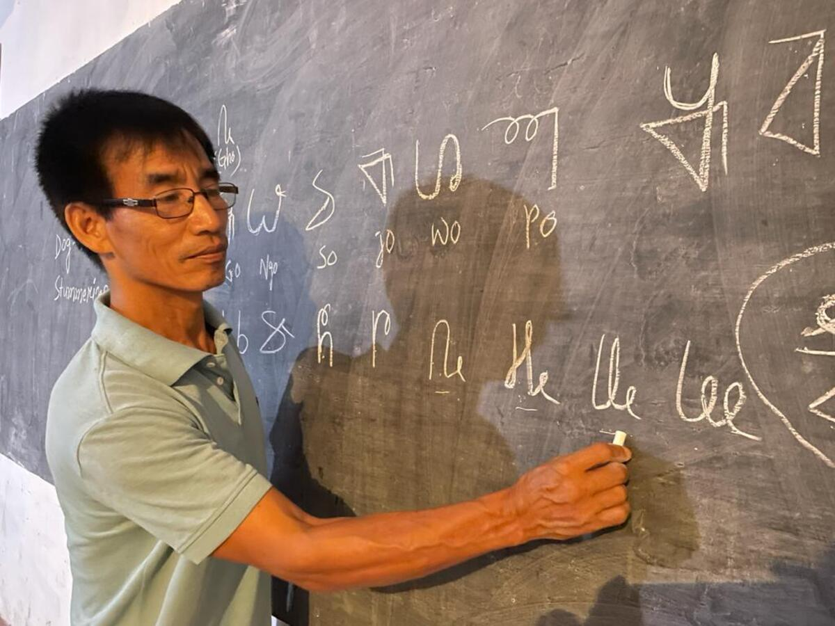 Wanglung Mossang is on a mission to preserve the endangered Tangsa language