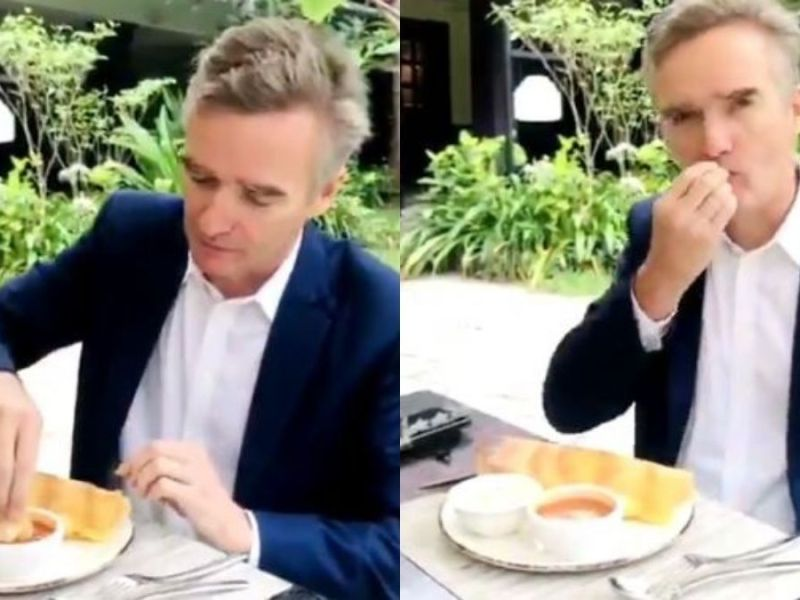 Twitter convinced British High Commissioner Alex Ellis to eat Dosa with hand