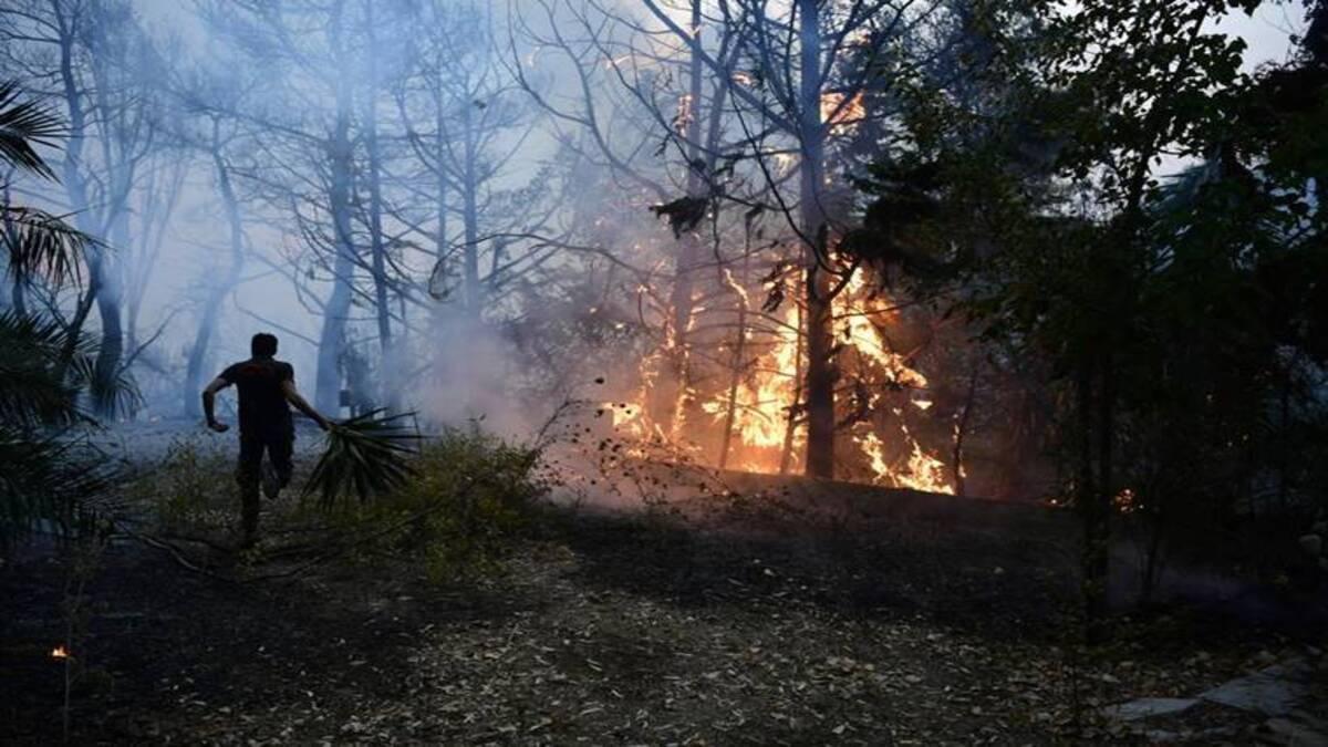 Greece wildfire