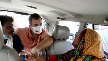 Rahul Gandhi met victim's family
