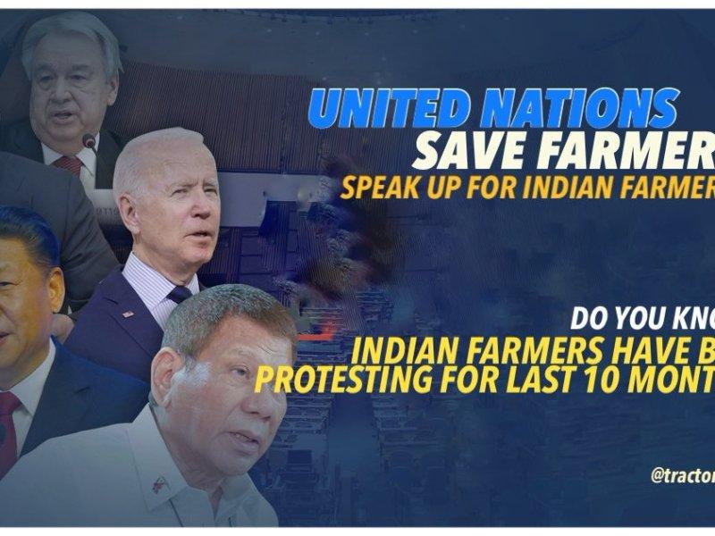 farmers protest UN