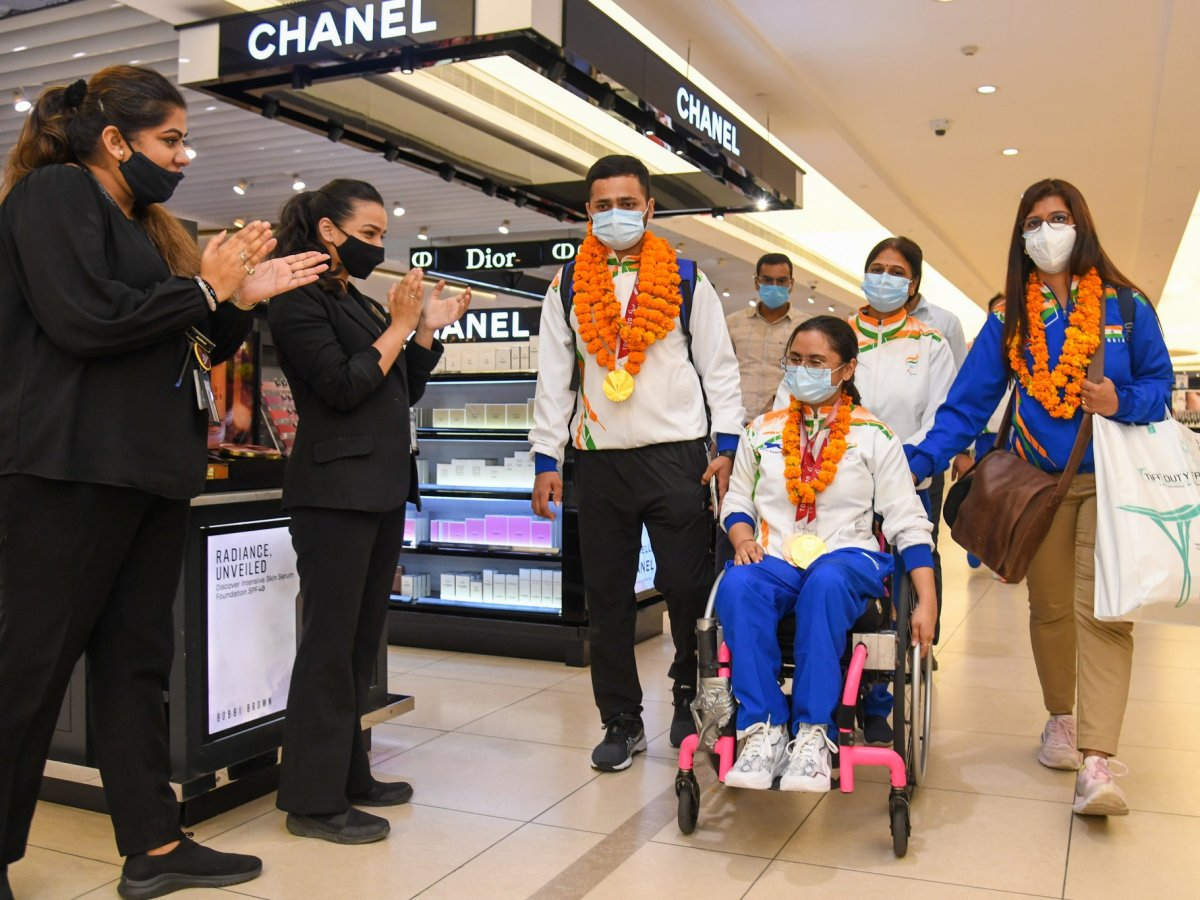 India's history-making Paralympians return to rousing reception