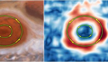 NASA HUbble Jupiter storm Great Red Spot