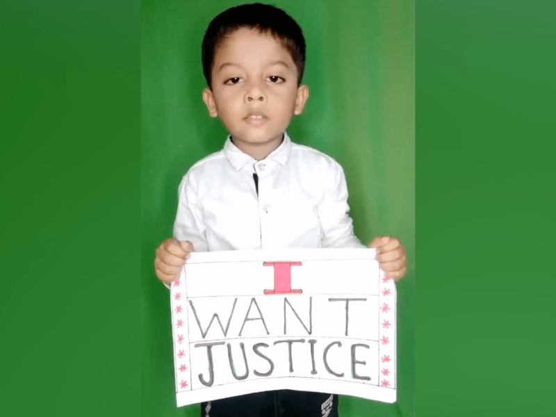 Assam four-year-old seeks justice for his father's murder