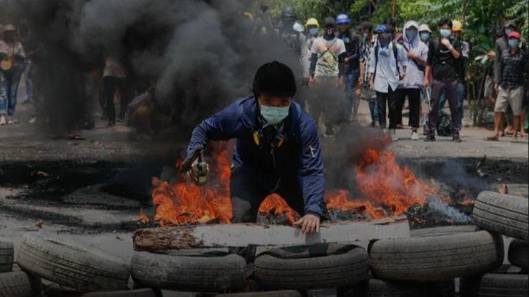 Fighting in Myanmar kills at least 15 after uprising call