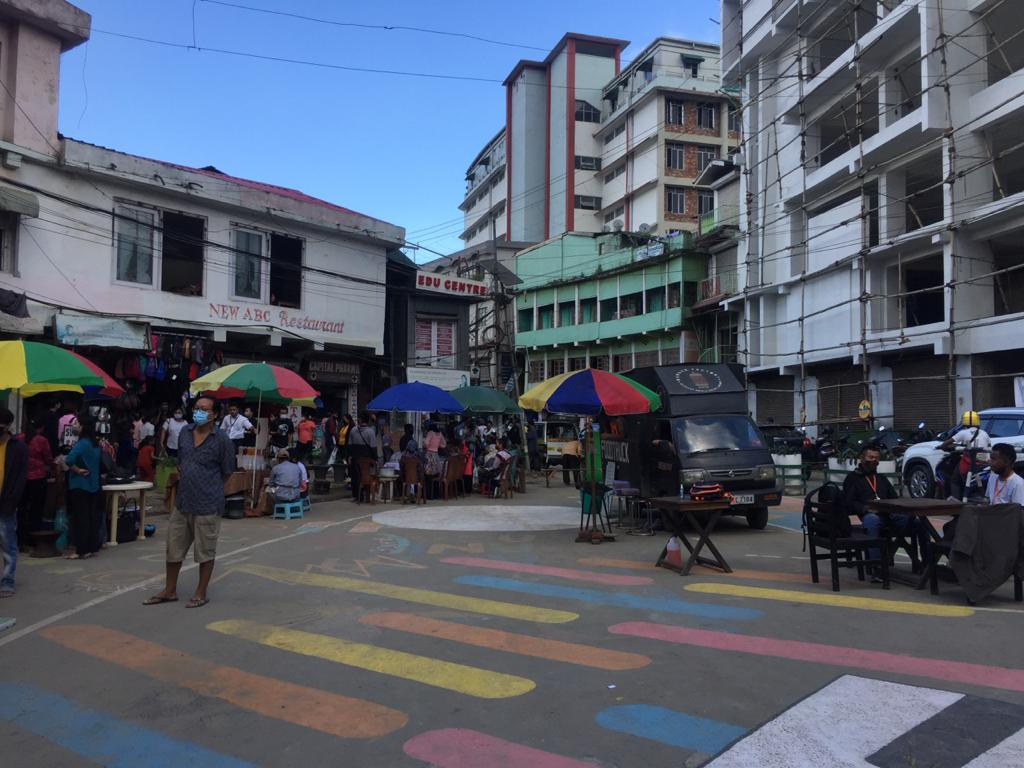Kohima town 'no parking zone'