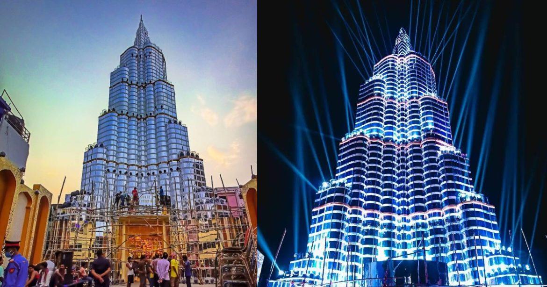 This Durga Puja a new `Burj Khalifa' in the middle of Kolkata draws huge crowds