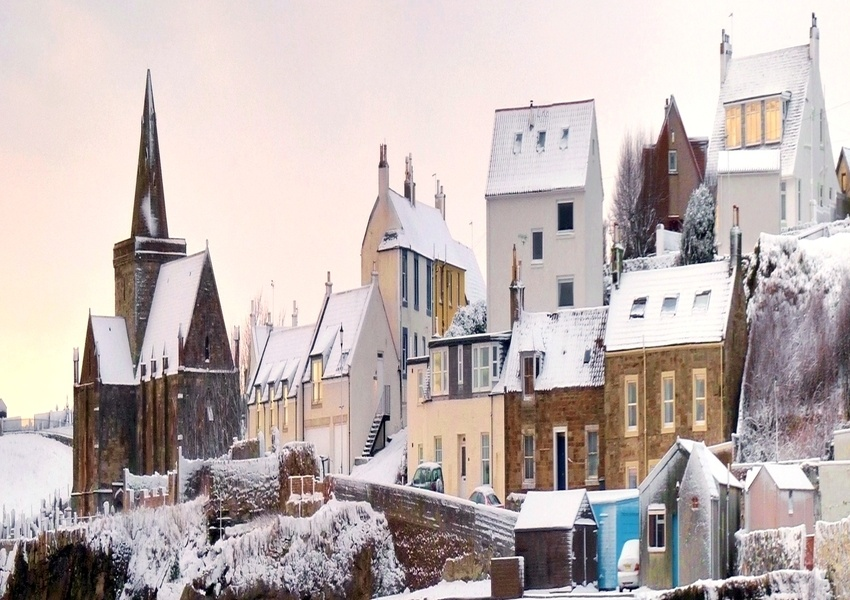 St Monans in the snow