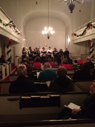 Joel Barolow Choir at Christmas Carol Sing-Along 2