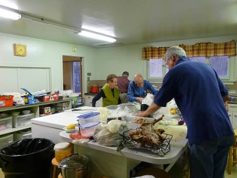 easton church harvest dinner Working in the Kitchen