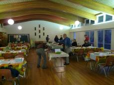 easton church harvest dinner Getting Ready