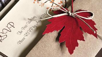 Autumn weddings at Easton Grange