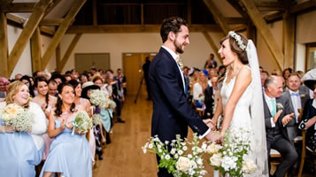 Valentines weddings at Easton Grange