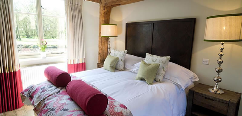 Guest accommodation. Alternative Essex wedding venue - Easton Grange luxury barn wedding venue