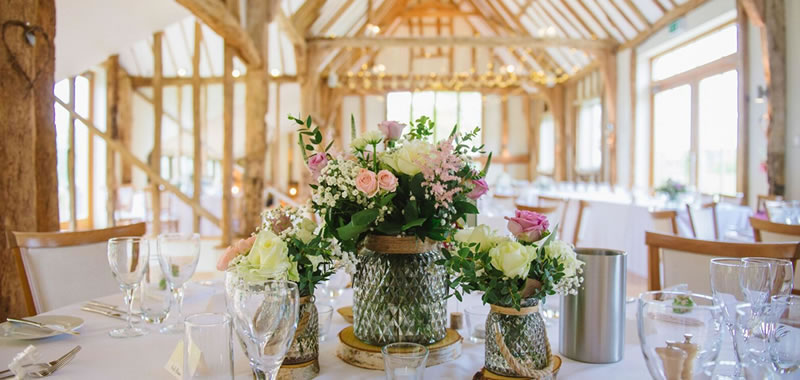 Wedding Breakfasts. Alternative Essex wedding venue - Easton Grange luxury barn wedding venue