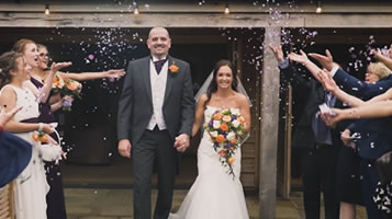 Laura and David's October wedding at Easton Grange