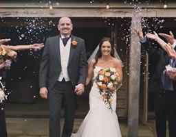 Laura and David's October wedding at Easton Grange