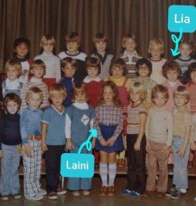 Laini Abraham and Lia Triscari met in kindergarten at Palmer Elementary School, Easton PA. 1977