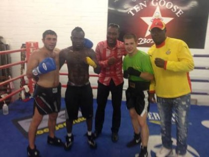 Tagoe with team in their training camp