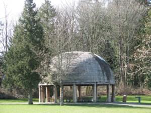 Grass Lawn Park Picnic Dome