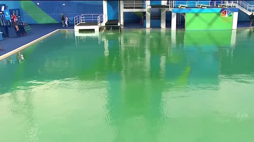 Olympic pools turn green_13740335-159532
