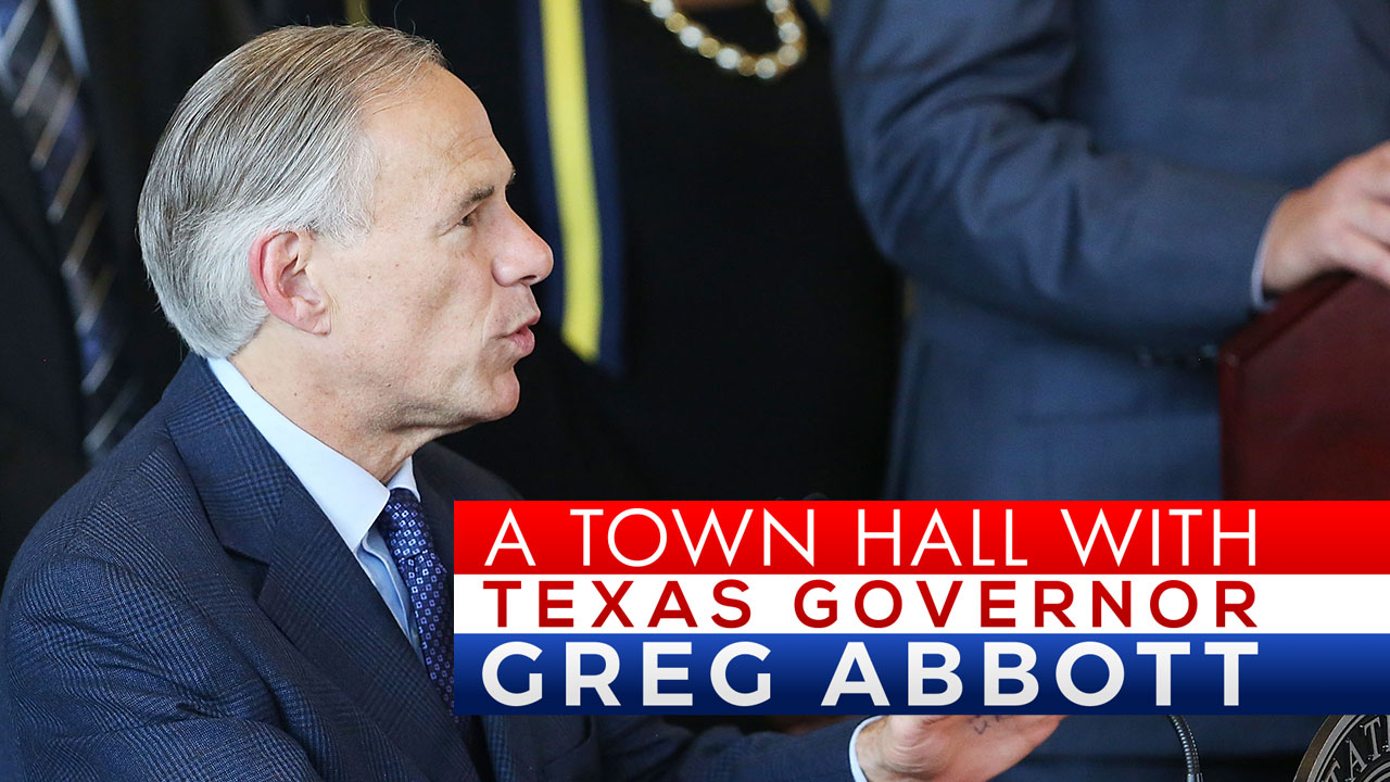 Watch Live: Exclusive town hall with Texas Governor Greg