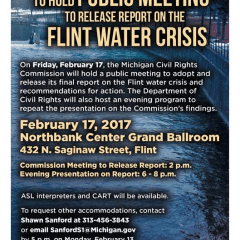 Michigan Civil Rights Commission to deliver water crisis report Friday