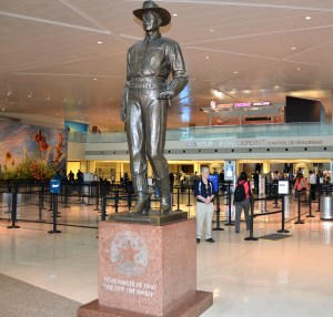 New Love Field saved the Texas Ranger statue that stood for a half century at the old airport