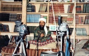 Osama w ith video cameras