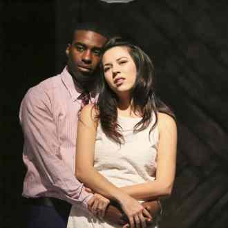 Jacqueline Misaye as Sophie and Christian Telesmar as Da'Ran in East West Players' West Coast premiere of Kentucky by Leah Nanako Winkler. Photo by Michael Lamont.