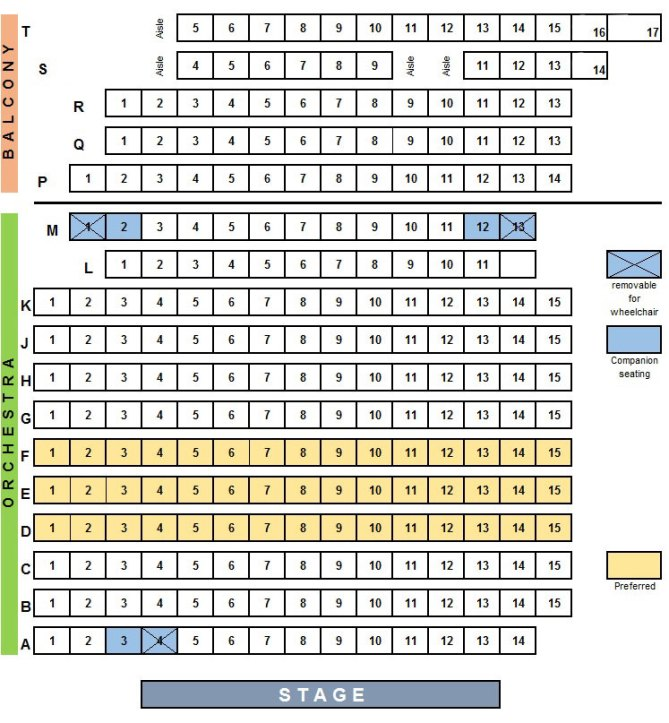 Seating Chart East West Players The Nations Premier