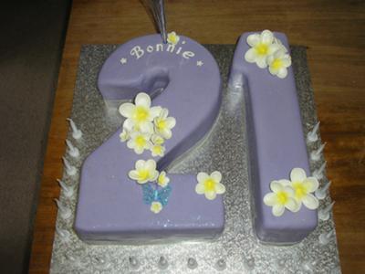 Beautiful 21st Birthday Cake