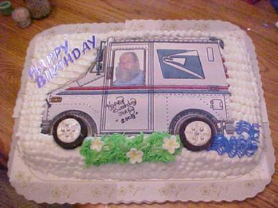 Mailman Cake