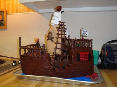 Priate Ship Cake