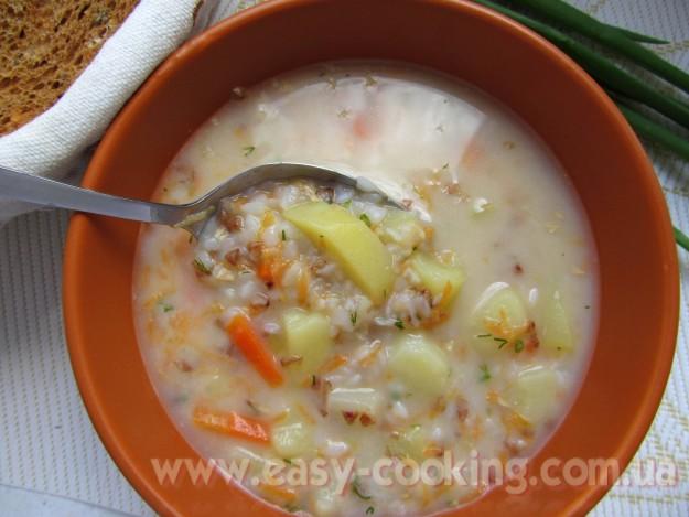 суп з плавленими сирками рецепт