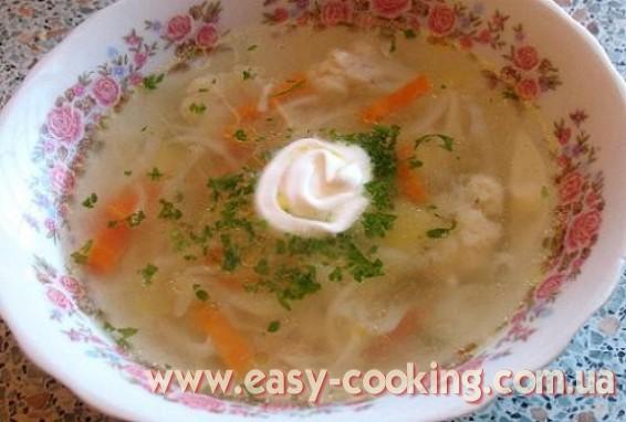 Рецепт овощного супа с цветной капустой - Кулинария