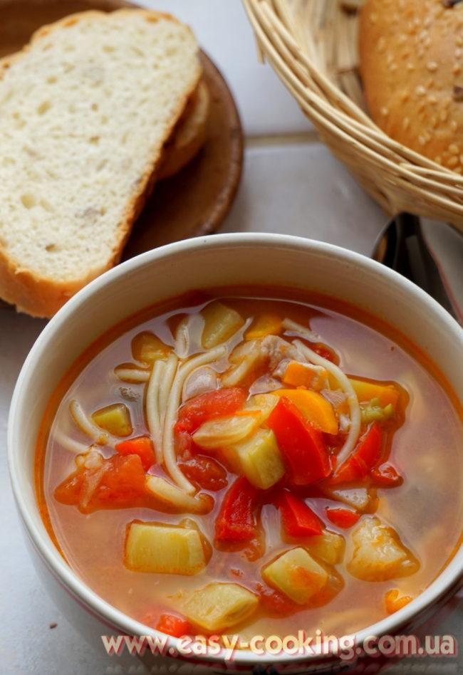 """Італійський суп """"Мінестроне"""" - Рецепти перших страв - Катрусина кухня"""