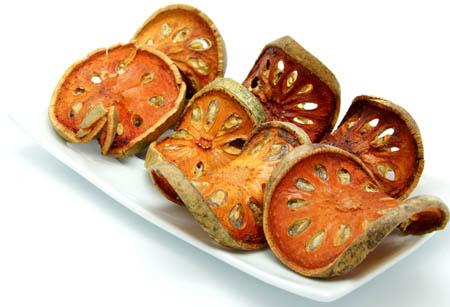 dry bael fruit slice