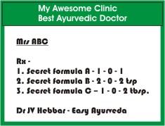secret Ayurvedic Medicine