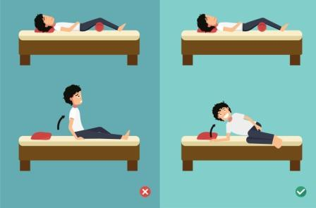 correct sleeping posture