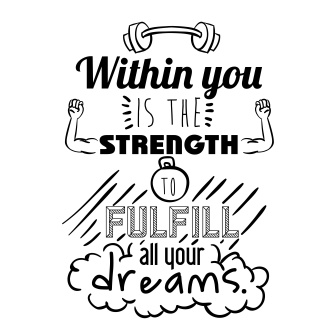 within you is the strength