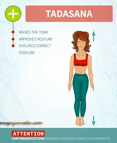 tadasana  mountain pose how to do benefits side effects