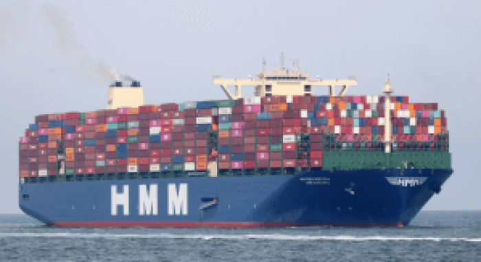 The new biggest container ship in the world