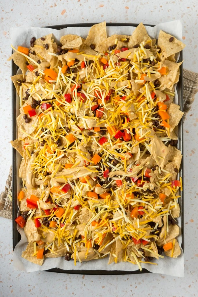 Nachos before baking