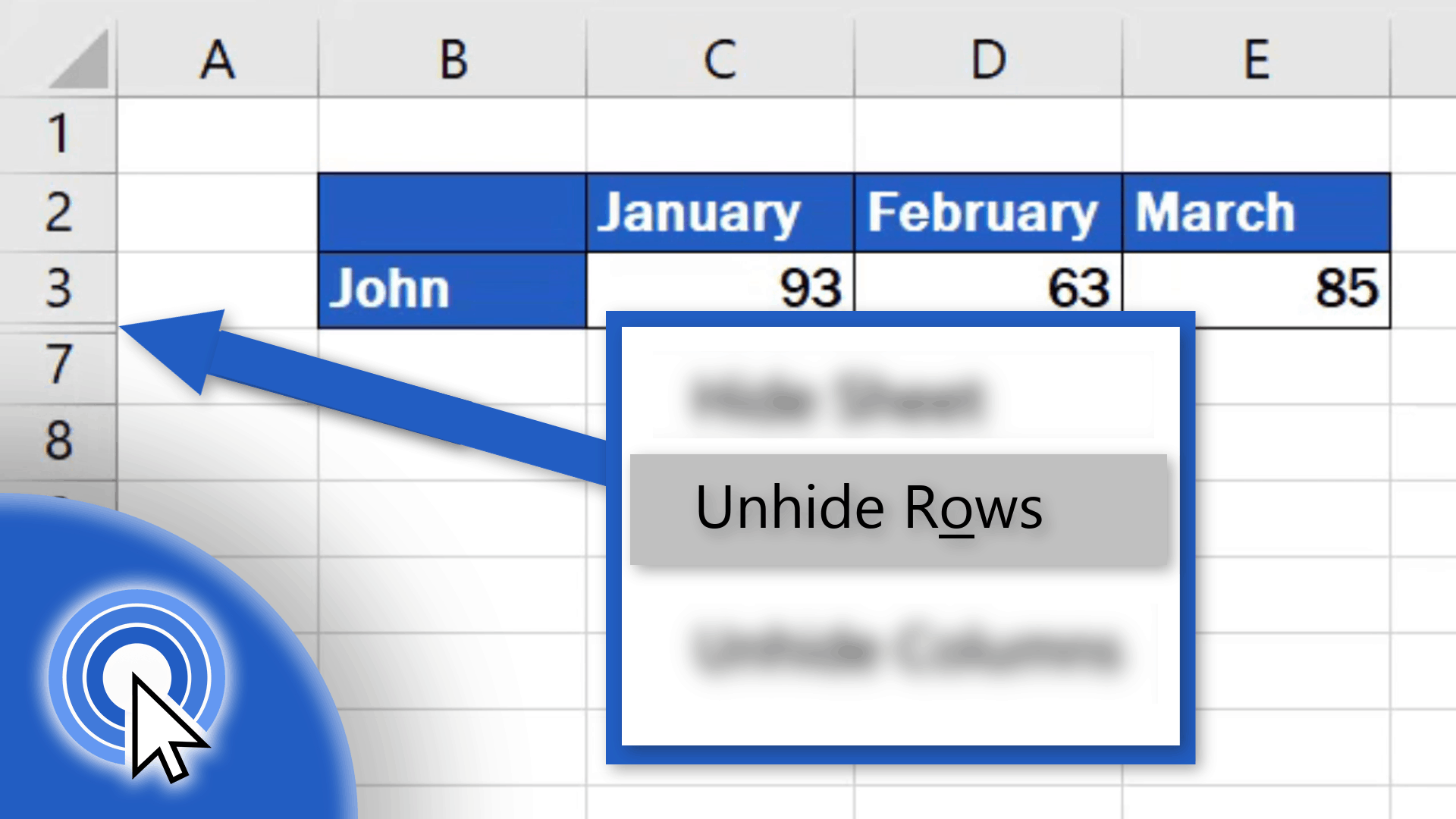 How To Unhide Rows In Excel