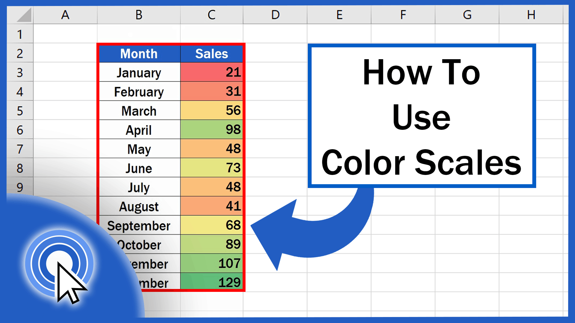 How To Use Color Scales In Excel Conditional Formatting