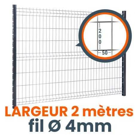 panneau cloture rigide easy home 2 metres