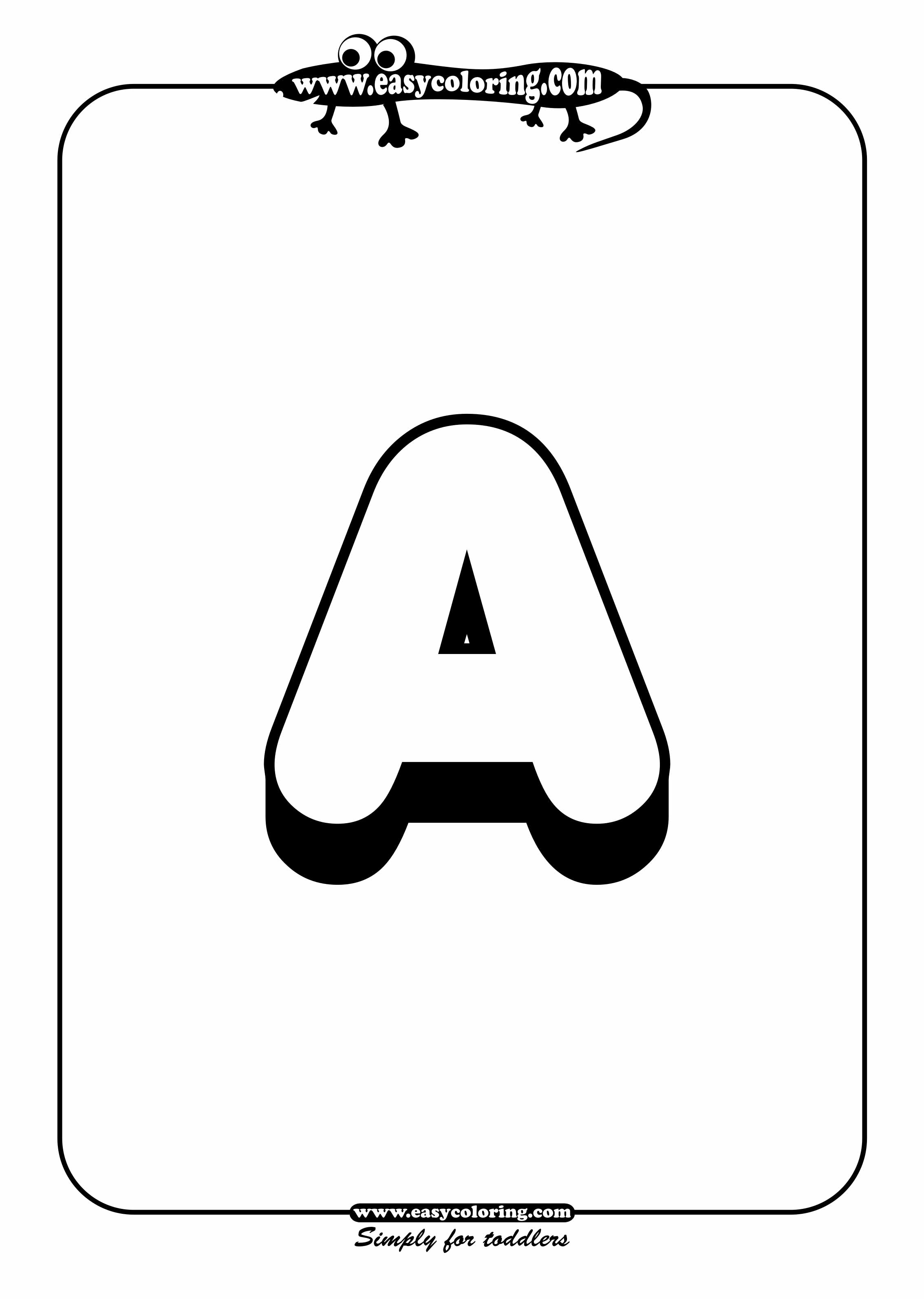 alphabet letters to color and print big letter a easy coloring