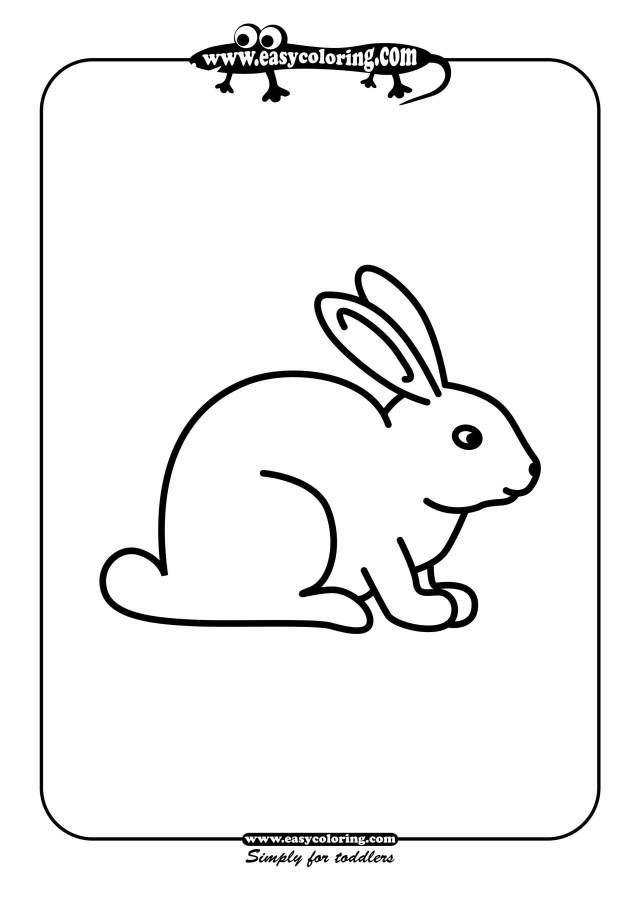 Rabbit - Simple coloring animals  Easy coloring animals for toddlers