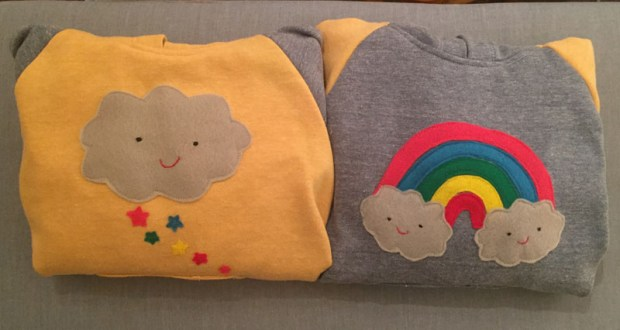 diy sweatshirts and felt appliqués